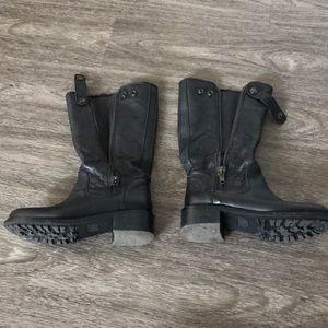 Vince black leather boots